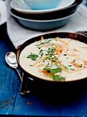 Garnelen-Kokosmilch-Suppe