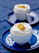 Vanilla-mango iced soufflé