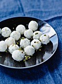 White pistachio chocolate truffles