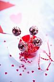 Saint Valentine cake pops