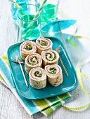 Ham and lettuce Tortimaki