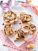 Nutella and banana mini pizzas