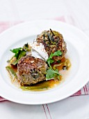 Beef and leek meatballs