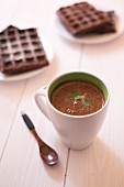 Minty hot chocolate