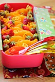 Orange and strawberry fruit salad