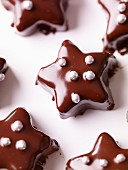 Small chocolate star cakes