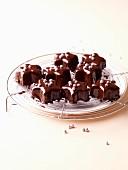 Small chocolate star cakes