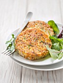 Millet, vegetable and chicken patties
