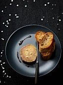 Foie gras with Sel de Guérande sea salt, toasts and balsamic vinaigar caramel
