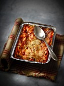 Dish of lasagnes