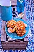 Harcha,Moroccan wafle-style semolina and butter galettes