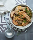 Chicken and quince tajine