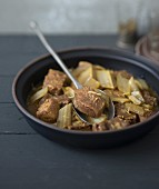 Beef and cardoon tajine