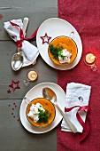 Cream of squash soupe
