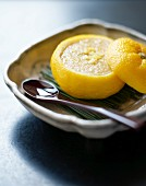 Yuzu lemon mousse with ginger