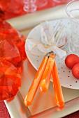 Orange tableware and dercorations