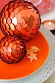 Orange Christmas decorations