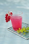 Ginger-redcurrant cocktail