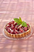 Raspberry and almond cream tart