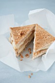 Brie,pear and cashew toasted sandwich