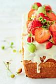 Elderflower and strawberry cake