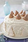 Mont-Blanc-style cake