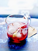 Sangria-style Rum, hibiscus and strawberry cocktail