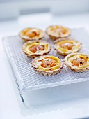 Apricot and almond tartlets