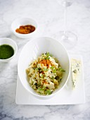 Cauliflower,blue cheese spicy risotto
