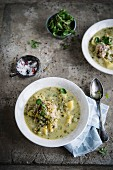 Waterzooi de poulet (Chicken and vegetable stew, Belgium)