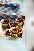 Anchovy and olive muffins