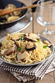 Spaghettis with ceps
