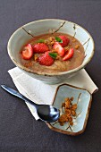 Rhubarb Compote with Cardamom and Strawberries