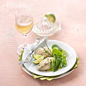 Mackerel and lime mousse with a glass of Crémant