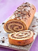 Coffee and chocolate roll