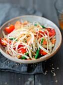 Tam Mak Taeng, Salat mit grüner Papaya