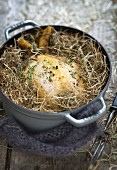 Turkey cooked in hay
