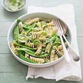 Pesto et feuilles de basilic