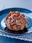 Gâteau fleur de sel (chocolate cakes with fleur de sel, France)