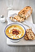 Butternut squash and chorizo soup