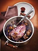 Marrons et raisins secs