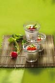 Cream of radish and salmon roe Verrine