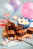 Walnut and marshmallow brownies