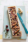 Nougat and cherry tart