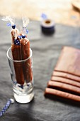 Homemade Carambar sweets in a glass