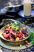 Fresh and dried autumn fruit Tajine