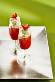 Daiquiri, strawberry liqueur and whipped cream cocktail
