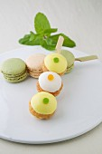 Cream puff brochette and macaron brochette duo