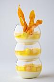 Ananas et crevette