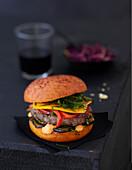 Oriental-style burger